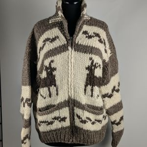 Hand Crafted Namaste Wool Sweater